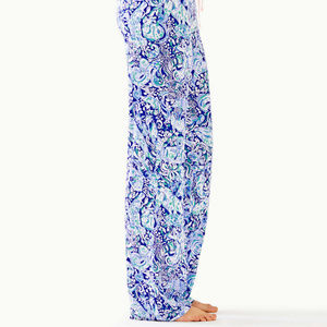 Lilly Pulitzer Pj Knit Pant Royal Purple 60 Animal